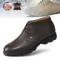 [Grass] [Men's Multi-golf - golf turf S key fleece 2481-02 / Leisure Shoes / norm [natural wool / leather;