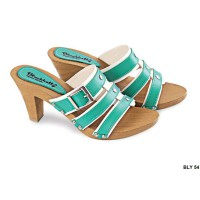 Womens Shoes Wedges Pu-Pvc Sol Tpr Coklat Susu – BLY 54