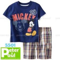 CA5501 - Set Pipo Carter Blue Mickey + CElana Kotak