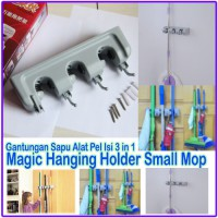 small mop holder gantungan sapu alat pel dengan hook magic hanger home