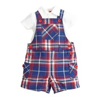 Torio Classic Blue Checkered Dungaree
