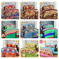 Bed Cover Set Kendra Premiere Collection - Single Size / No. 3 (120 cm x 200 cm x 20 cm)