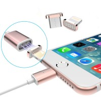 Delcell Metal Magnetic 2 in 1 Cable Micro USB Lightning 100cm