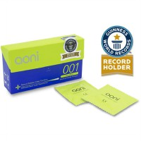 Aoni Kondom Latex Tertipis di Dunia - Ultra Thin 001 (12 Pcs Box)