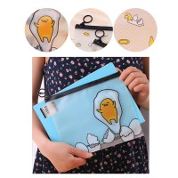Buy1Get1 PF11 NEW NORMAL ESSENTIALS Masker Pouch, Hand Sanitizer Pouch | Egg Cartoon Pouch A5