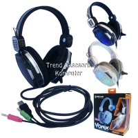 Rexus F17 Headset Gaming with Mic and Rainbow LED
