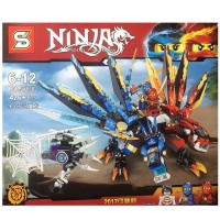 Ninja Thunder Swardsman Fire Double Headed Dragon Building Block SY850