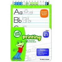 LeapFrog Printing Dry Erase Activity Book for Grades K-1 with Washable Dry Erase Marker