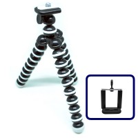 Flexible Small Tripod Portable Gorillapod Octopus Stand Bonus Clamp