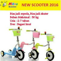 Skuter sepeda mainan anak kecil 2 in 1 otoped