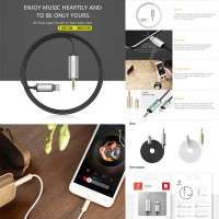 Baseus Aux Enjoy Apple Transfer Male Audio Cable 2M