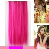 HO4520 - Hair Extension Clips Lurus (Pink)