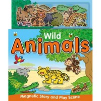 [HelloPandaBooks] Wild Animals Magnetic Story and Play Scene Book