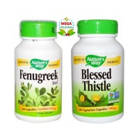 Asi Booster 3 Nature's Way Fenugreek 100 Vcaps & Blessed Thistle 100 Vcaps (meningkatkan kuantitas ASI & memperlancar LDR)