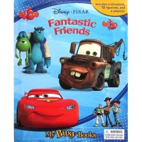 [HelloPandaBooks] My Busy Book Disney Pixar Fantastic Friends includes a Storybook