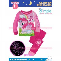 GW Simple 1 Glow in The Dark Pajamas I - Pink Pony