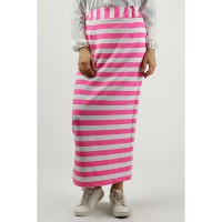Heart and Feel Stripe Skirt - Pink and White