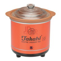 TAKAHI Slow Cooker 0.7 L Heat Resistant Red