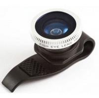 Lesung Clip Filter Fisheye Lens No 7 for iPhone 4/4s/5/5s - LX-P007 - Black