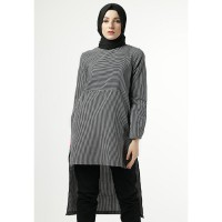 Heart and Feel Stripe Dress 3008.D - Black and White