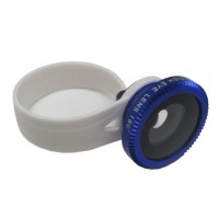 Lesung Universal Circle Clip Fisheye Lens 180 Degree for Smartphone - LX-C001 (Original) - Blue