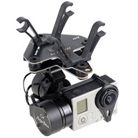 Feiyu Tech FY-G3 2-Axis Phantom Mount Gimbal Brushless AirCraft Aerial Photography for GoPro 3/3+ - Black