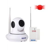 ESCAM Patron QF500 Wireless IP Camera CCTV for Android and iOS 1/4 Inch CMOS - White