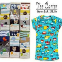 Carter short tee 5 in 1 kaos carter pendek boy girl kerah lipat jumper