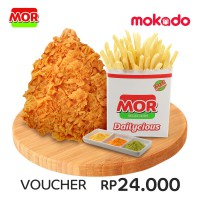MOR Deals 3: 1 PCS SUPER CRISPY FRIED CHICKEN + 1 SHAKY FRENCH FRIES