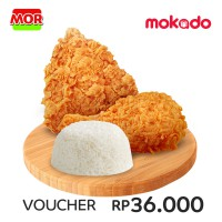 MOR Deals 4: 1 NASI + 2 PCS SUPER CRISPY FRIED CHICKEN