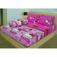 Sprei Ladyrose HELLOKITTY HELLO KITTY PINK 180 x 200 KING SIZE NO 1