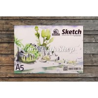 Buku Gambar  Sketsa A5 25 lembar utk Cat Air Pensil Pen Sketch Book
