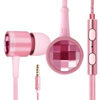 Handsfree Xiaomi Piston Swarovski Earphone ORIGINAL Headset / Earphone Colorful - Pink