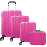 Koper POLO MAPLE ABS vertical stripe 4in1 - B11 pink fushia 12', 16', 20', 24'