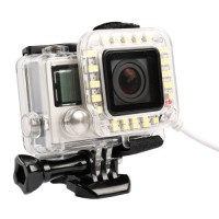 USB LED Light Lens Ring for GoPro Hero 4/3+ Frame - White