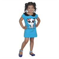 Catenzo Junior Dress Anak Perempuan Biru CPSx507 Panda