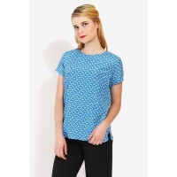 Accent Irene Short Sleeves Blouse Cobalt - ACBJACCL0169