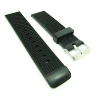 [macyskorea] Smartwatchbands 22mm Black Thin Quality Rubber Watch Band Strap Fits Luminox /15865419
