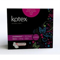 [New Produk] Kotex Natural Care Overnight Lavender isi 30 Pcs {Free Sanitary Pouch}