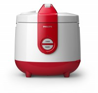 Philips rice cooker 2 liter HD3118 - Merah Putih
