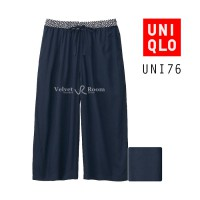 [VELVET ROOM] Uniqlo / Cullotes Pants / UNI76 Navy / size M, L / Rayon