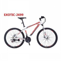 Sepeda MTB 26' Exotic 2699 ( alloy, 21speed shimano, double disc ) - ready PUTIH + BIRU