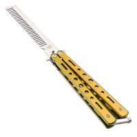 Benchmade Balisong Comb Yellow / Butterfly Comb Kuning / Sisir Lipat