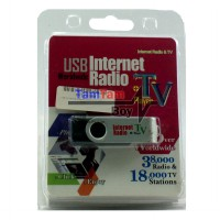USB Dongle Worldwide Internet Streaming Radio & TV Player - Hitam