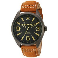 [macyskorea] Superdry Mens Military Quartz Brass-Plated-Stainless-Steel and Leather Dress /16146370
