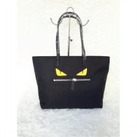 Fendi Monster Roll Tote (Black)