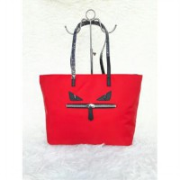 Fendi Monster Roll Tote (Red)