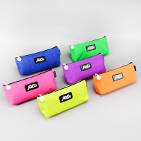 Hello Highlight Canvas Pencil Case / Kotak Pinsil Kanvas Unik Imut Warna Warni / Tempat Pensil Lucu
