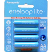 Panasonic Eneloop Lite 1000mAh AA 4pcs - Baterai Battery - rechargerable charger