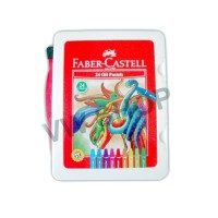 Faber Castell Faber-Castell Crayon Krayon Hexagonal Oil Pastel 24 Warna - with Plastic Bag